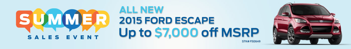 Escape Summer Sales Event