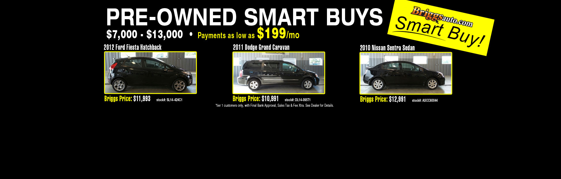 Briggs Pre-Owned Smart Buys