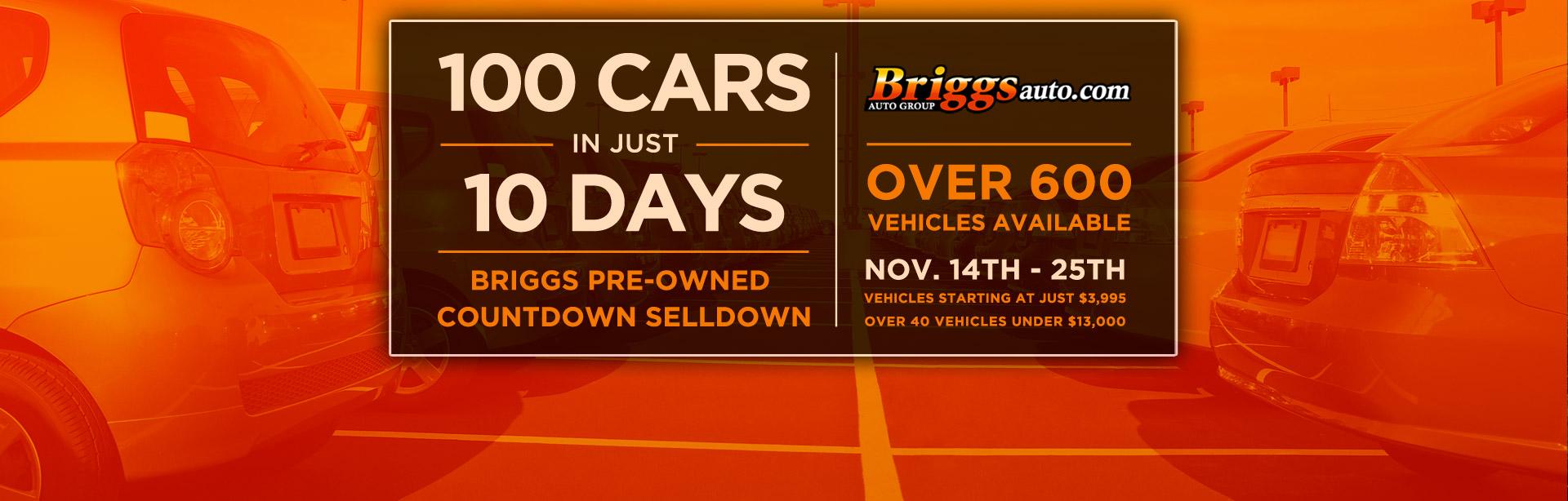 100 Cars 10 Days