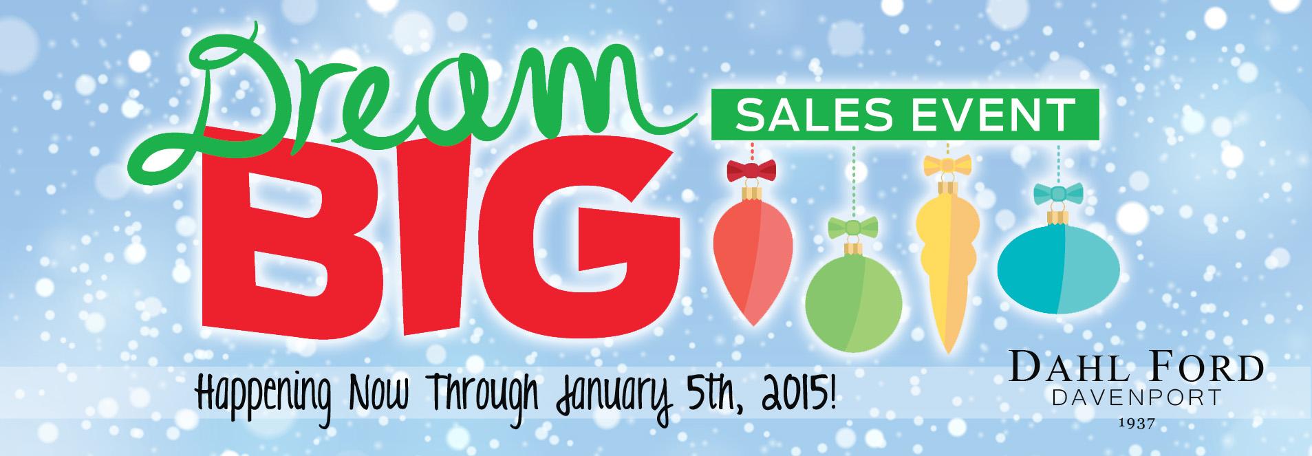 Dream Big Sales Event