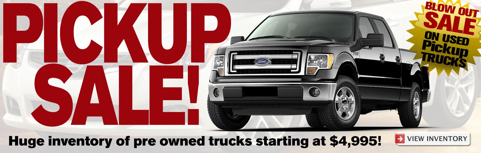 Pickup Truck Sale