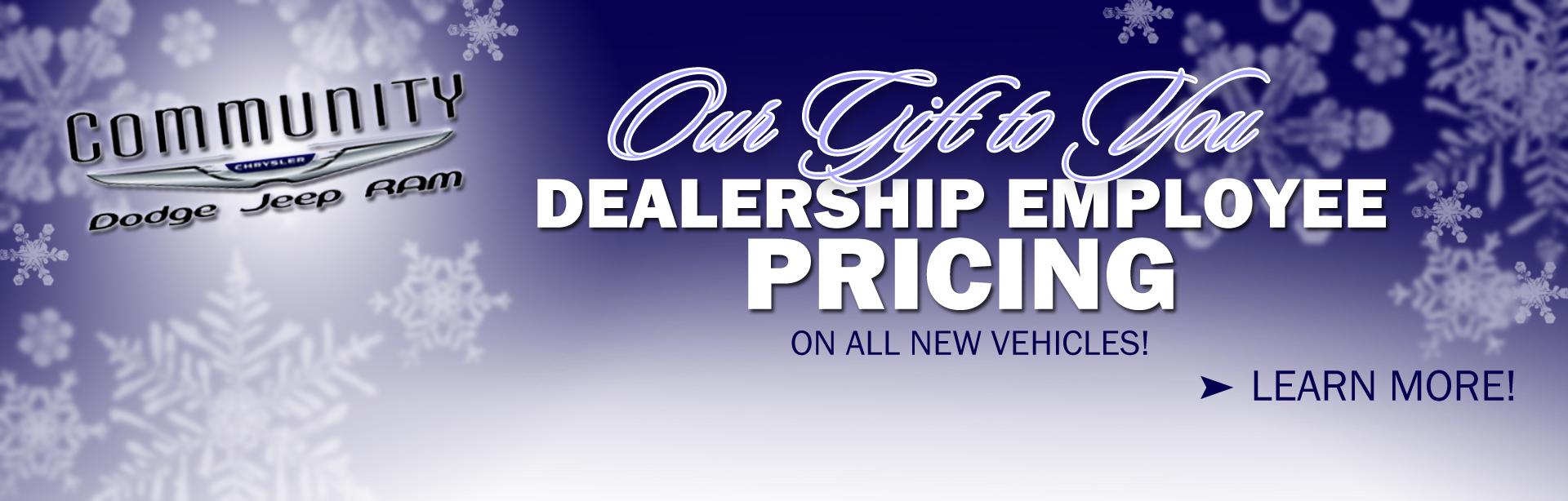 Dealership Employee Pricing