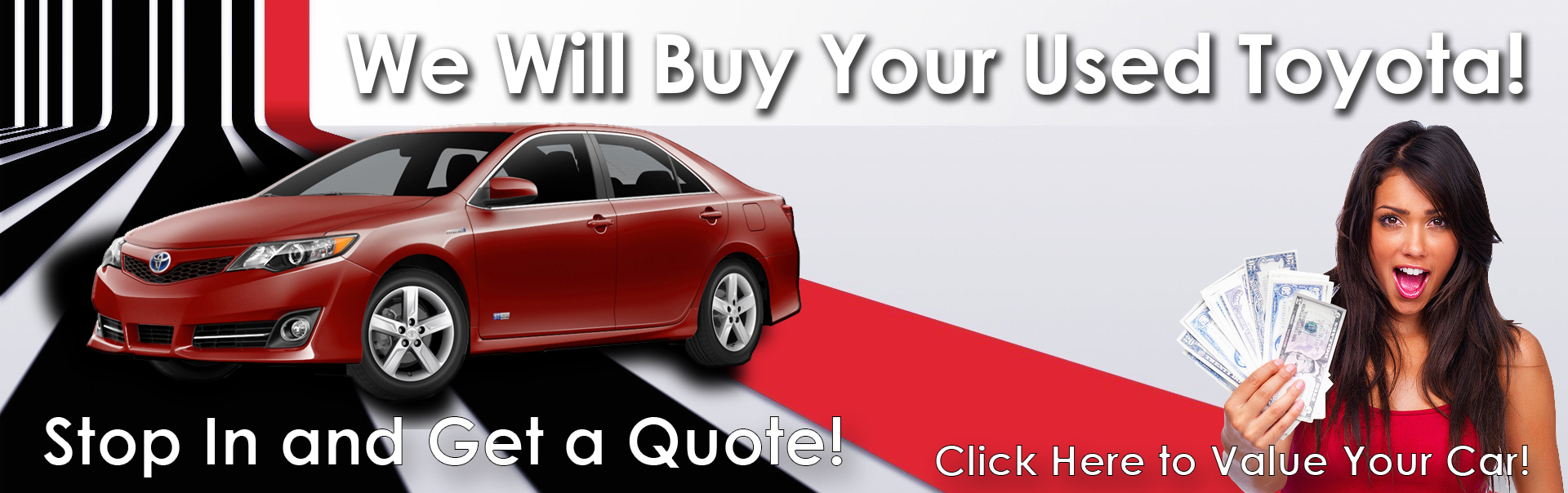 We Will Buy Your Used Toyota