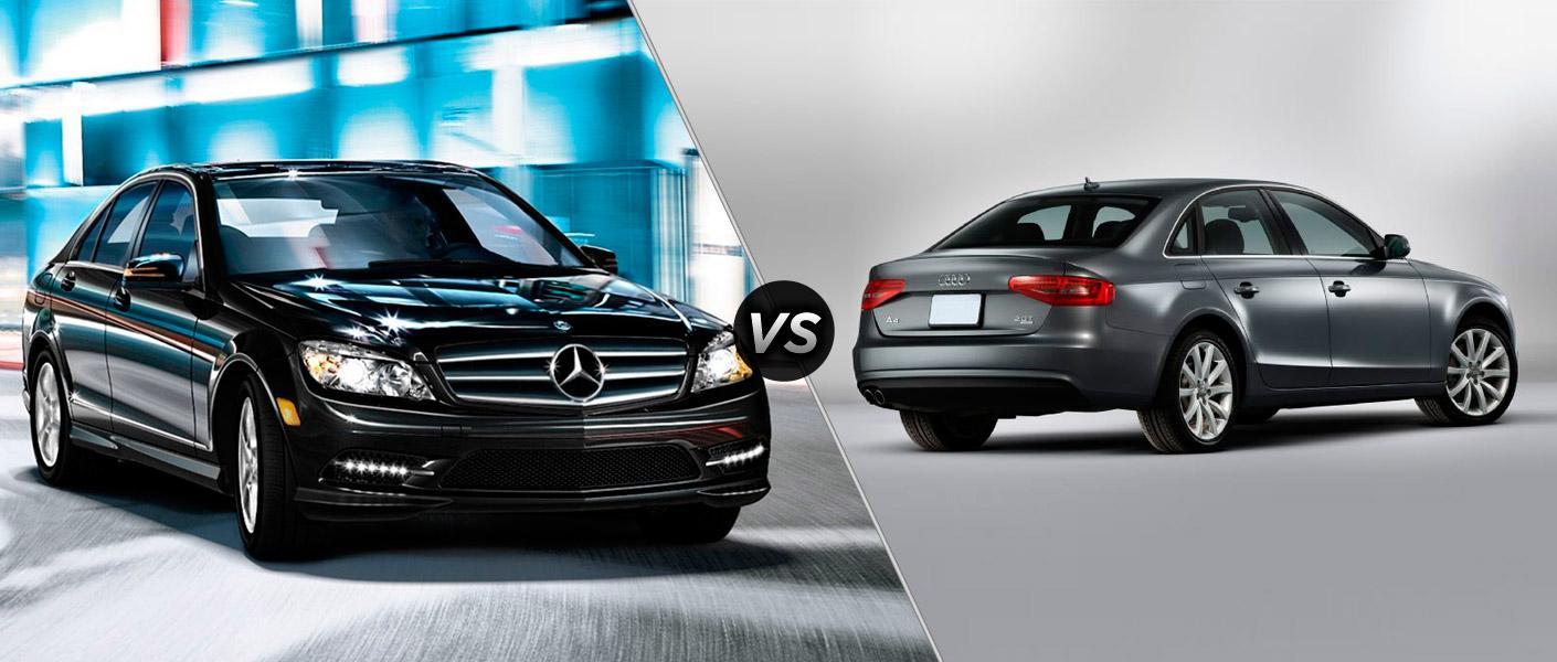 2014 mercedes benz c class vs audi a4 for Mercedes benz c class vs e class