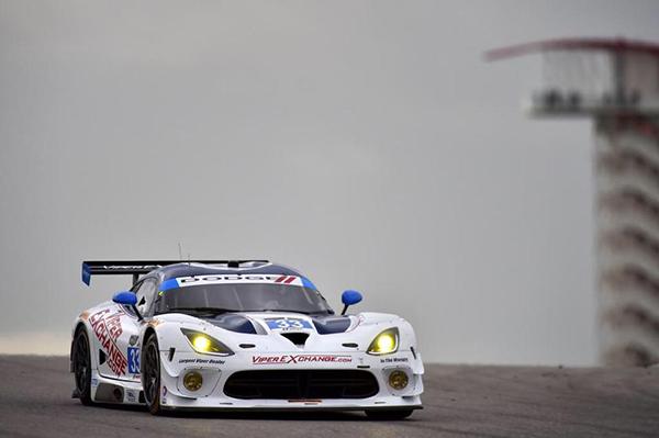 race car in the fog