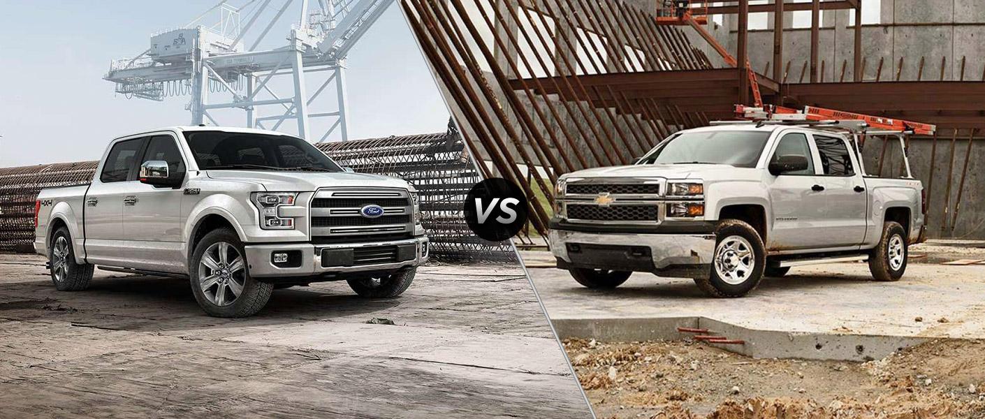 2015 Ford F 150 vs 2015 Chevrolet Silverado 1500