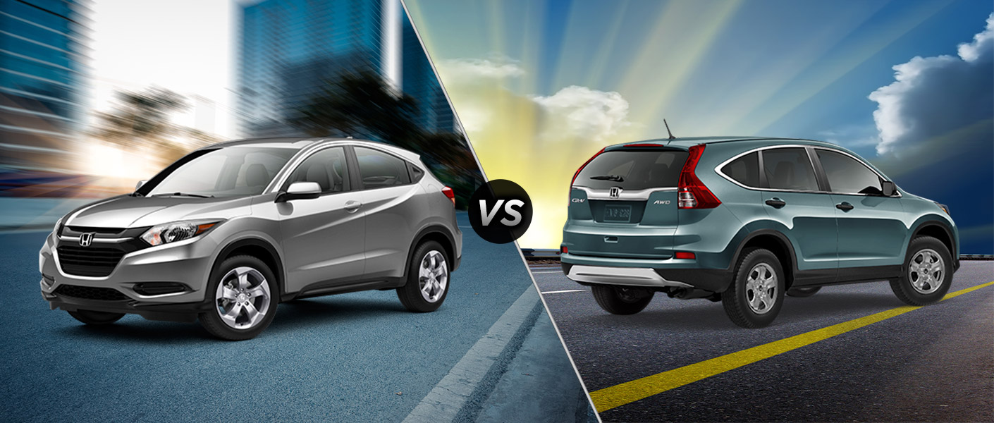 2016 honda hr v vs 2015 honda cr v for Difference between honda cr v lx and ex
