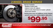 2-Wheel Brake Service