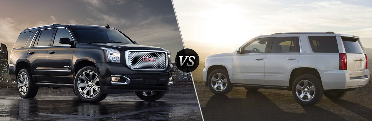 2016 gmc yukon vs 2016 chevy tahoe. Black Bedroom Furniture Sets. Home Design Ideas