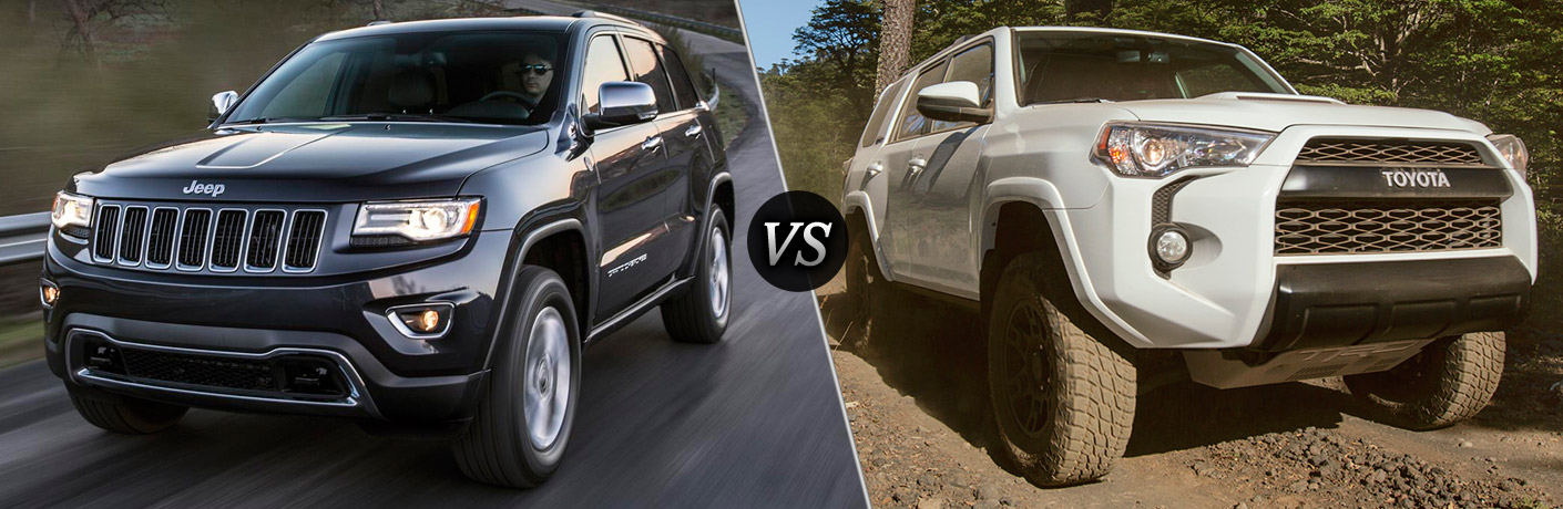 2016 jeep grand cherokee vs 2016 toyota 4runner. Black Bedroom Furniture Sets. Home Design Ideas