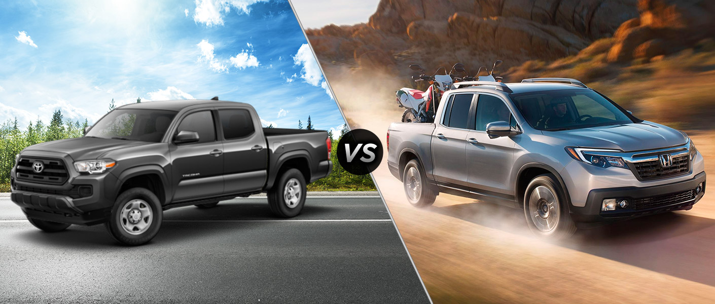 2017 Honda Ridgeline Vs Toyota Tacoma Vs Chevy Colorado