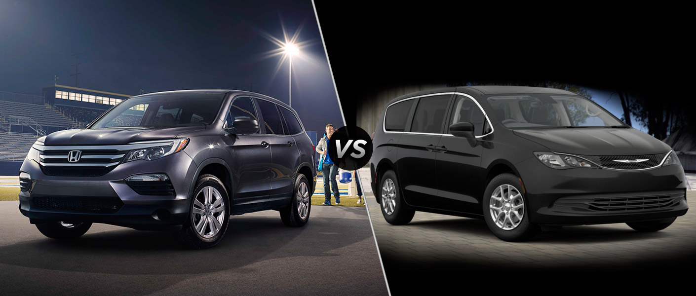 2016 honda pilot lx vs 2017 chrysler pacifica lx for Chrysler pacifica vs honda odyssey