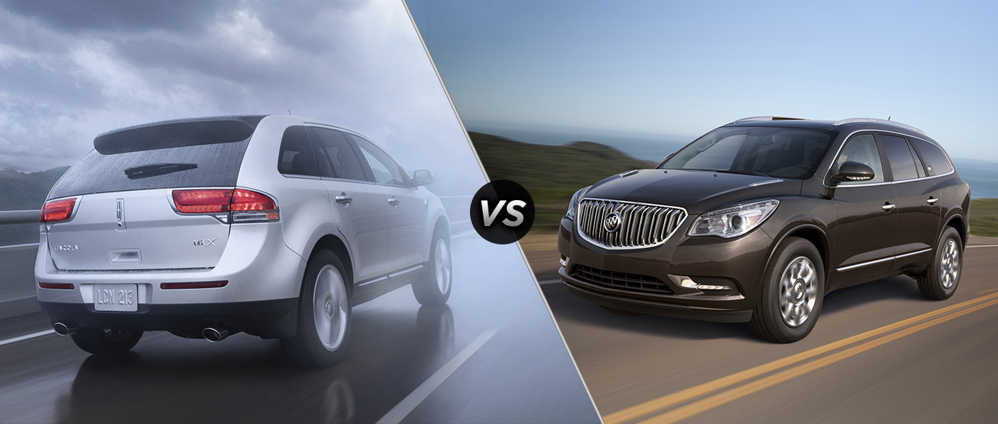 2013 Lincoln MKX vs 2013 Buick Enclave